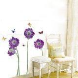 lila Blüte Schmetterling abnehmbaren wandtattoo schlafzimmer LD610