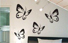 """Wandtattoo Schmetterlinge 2 10 Stück """"der kleine feine Unterschied""""mit Punkten"""