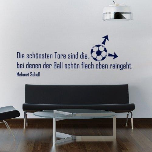Wandtattoo Fussball - Die schönsten Tore - 120 x 43 cm - Dunkelblau