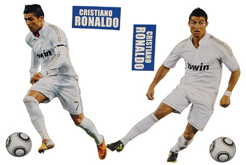 XL Set: Wandtattoo / Sticker - Cristiano Ronaldo Fußballer - Postersticker - Wandsticker Aufkleber Poster Fußball
