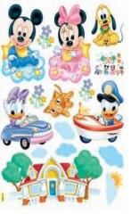 HL5901 Mickey Mouse & Minnie Mouse Dekor fürs Kinderzimmer Wandtattoo/Wandsticker 70cm x 50cm