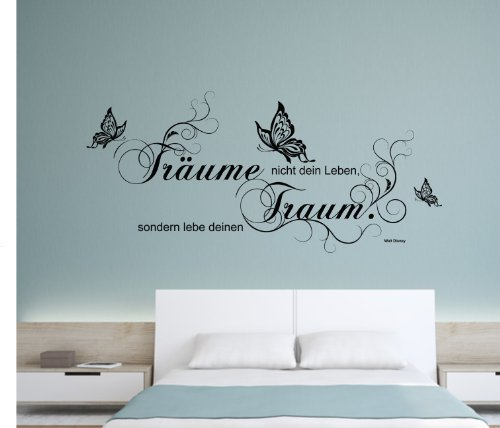 wandtattoo walt disney tr ume nicht dein leben lebe. Black Bedroom Furniture Sets. Home Design Ideas