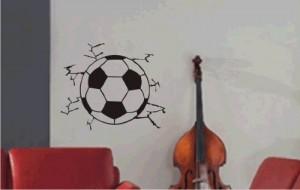 Fußball durch die Wand 27 Farben und verschiedene Größen ca. 27,5 x 23 cm Schwarz