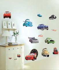 Wandaufkleber Wandtattoo Wandsicker Deko Autos Cars Kind Kinderzimmer WAK-082