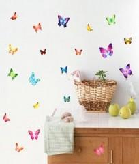 Wandaufkleber Wandtattoo Wandsicker wallsticker Schmetterlinge WAK-037