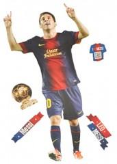 XL Set: Wandtattoo / Sticker - Lionel Leo Messi Fußballer - Postersticker - Wandsticker Aufkleber Poster Fußball