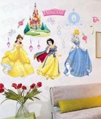 Wandaufkleber Wandtattoo Wandsticker Disney Princess Kind Kinderzimmer WAG-035