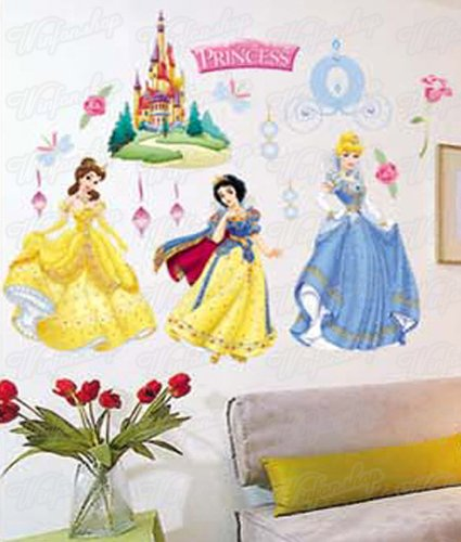 Wandaufkleber Wandtattoo Wandsticker Disney Princess Kind Kinderzimmer WAG-035