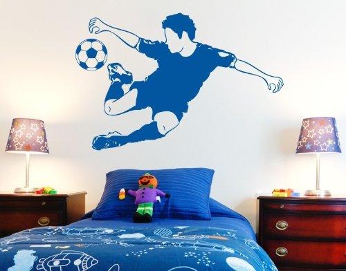 Wandtattoo Fussball-Kicker ( Größe: 80cm x 53cm - Farbe: dunkelgrau ) Motiv-Nr: 3721