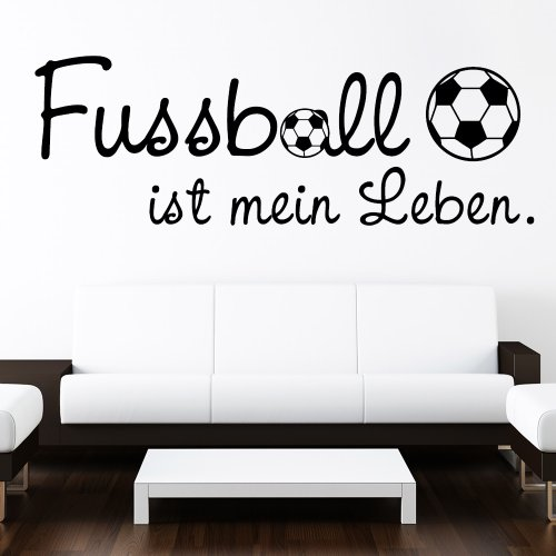wandtattoo fussball ist mein leben. Black Bedroom Furniture Sets. Home Design Ideas