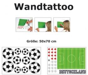 Wandtattoo Wandtattoos Wand Tattoo Tattoos Sticker Aufkleber Fußball Fußbälle Spielfeld Rasen WM