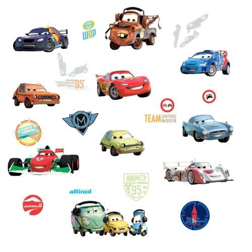 Wandsticker disney cars wanddekoration set cars 2 25 teilig - Cars wandsticker ...