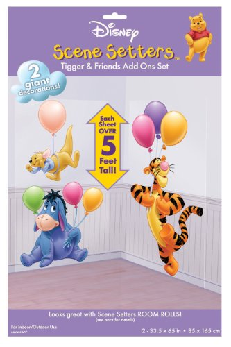 Tolle Wand Deko TIGGER AND FRIENDS (Winnie the Pooh)