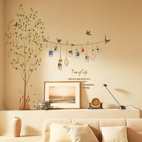 wandtattoo wandaufkleber wandtatoo wandsticker v gel baum fotorahmen. Black Bedroom Furniture Sets. Home Design Ideas