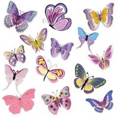 "Wandkings Wandsticker ""bunte Schmetterlinge"" Sticker Set - 14 Aufkleber auf 2 DIN A4 Bögen"