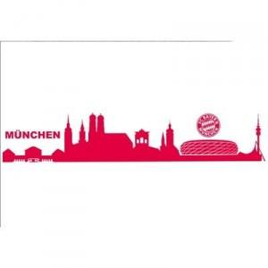 alenio 9114 - alenio Wandtattoo - FC Bayern München Skyline mit Logo, 40x60 cm