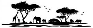 Wandtattoo Skyline Afrika