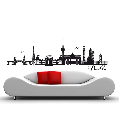 Skyline Berlin - 190 x 60cm - Farbe: Schwarz
