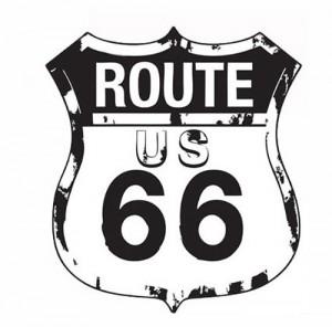 """XL Wandtattoo """"Route 66"""" Wandaufkleber"""