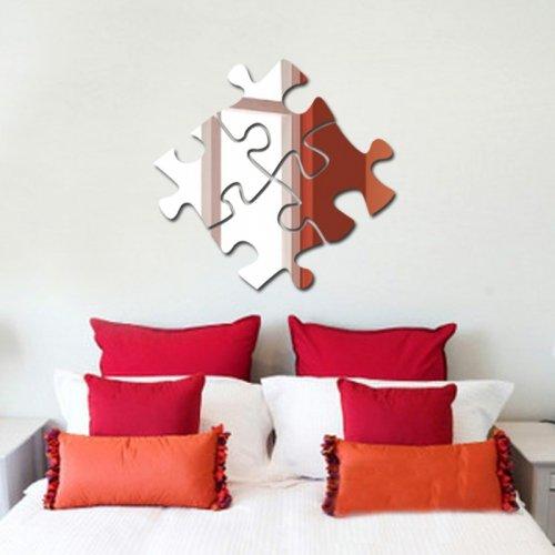 Spiegel Wandsticker * schnell - einfach - exklusiv * Wand Sticker Aufkleber Kunst Art Bild Wandtattoo * Puzzle *