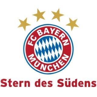 alenio 9112 - alenio Wandtattoo - FC Bayern München Stern des Südens, 30x40 cm