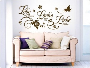 wandsticker wandtattoos g nstig kaufen. Black Bedroom Furniture Sets. Home Design Ideas