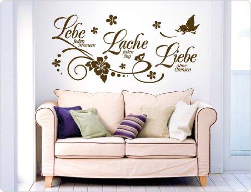 """I-love-Wandtatto 11503 Wandtattoo Spruch """"Lebe jeden Moment, Lache jeden Tag, Liebe ohne Grenzen."""""""