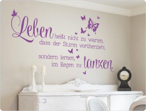 """I-love-Wandtattoo 11551 Wandtattoo Spruch """"Leben heißt nicht zu warten, dass der Sturm vorüberzieht, sondern lernen, im Regen zu tanzen."""""""