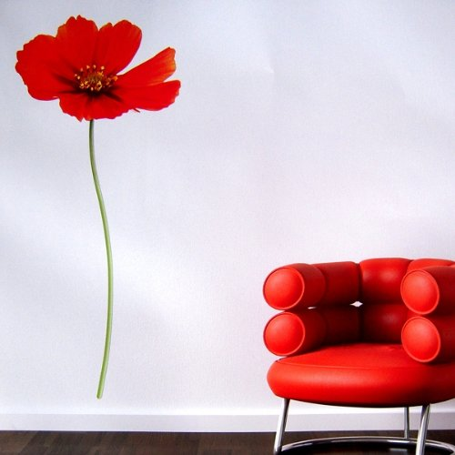 Wandaufkleber Mohn Blume Sommer Wandtattoo