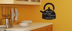 Pema Tafelfolie Aufkleber für Gastronomie & Kinderzimmer Schultafelfolie St47 Teekanne schwarz 80x76 cm
