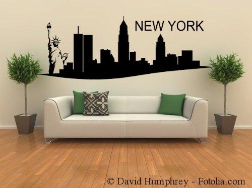 Wohnzimmer New York Style : ... Wandaufkleber Skyline NEW YORK ...
