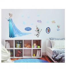 XL Set: Wandtattoo / Sticker - Disney die Eiskönigin - Wandsticker Aufkleber Wandaufkleber für Mädchen - völlig unverfroren Elsa Ardenelle / Poster - Postersticker - Frozen - Prinzessin Olaf