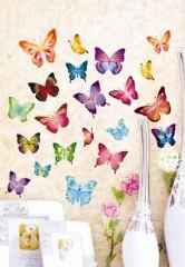 21 Stück Set Wandtattoo Wandstickers Wanddeko 3D Schmetterlinge Wandaufkleber