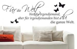 Wandtattoo Für die Welt bist du Schlafzimmer W152 (85x27 cm) schwarz