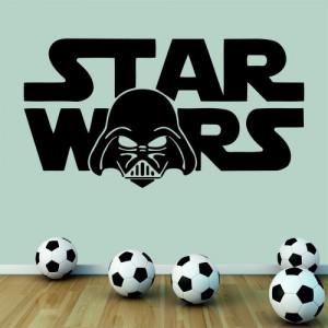 Star Wars Darth Vader, Wandtattoo, Wandaufkleber boy'Flur (Klein)