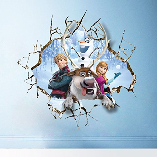 Disney-Zeichentrick Königin Gefrorene Wandaufkleber Elsa Anna Kristoff Olaf Sven Wanddekor