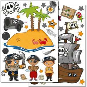Wandaufkleber Piraten