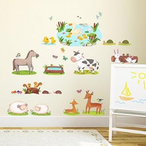 Wandaufkleber Kinderzimmer Tiere