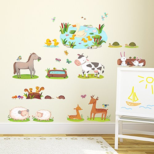 wandaufkleber kinderzimmer tiere. Black Bedroom Furniture Sets. Home Design Ideas