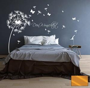 Wandtattoo Pusteblume Blüten Schmetterlinge